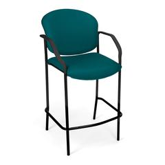 OFM Manor Series CafT Height Chair with Arms, Teal