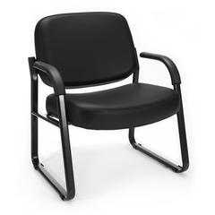 Big & Tall Vinyl Guest/Reception Chair Black