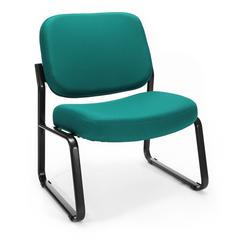 OFM Big & Tall Armless Guest / Reception Chair, Teal