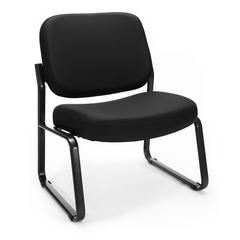 OFM Big & Tall Armless Guest / Reception Chair, Black