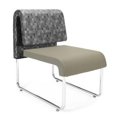 OFM UNO Lounge Chair, Taupe