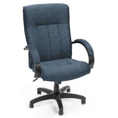 OFM Stature Series Uphosltered Executive High Back Conference Chair, Blue