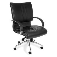 OFM Sharp Series Executive Mid-Back Leather Chair