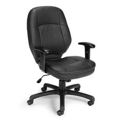 OFM Stimulus Series Leatherette Ergonomic Task Chair with Adjustable Arms