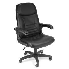 OFM MobileArm Leather Executive/Conference Chair, Black