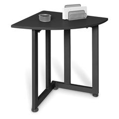 Quarter Round Table/Telephone Stand, Graphite