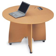 43 Round Conference Table, Maple