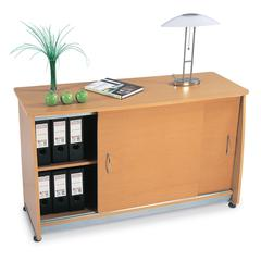 Sliding Door Credenza, Maple