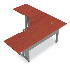 "L-Shapped Workstation 72"" x 72"" with 30"" D Top, Cherry"