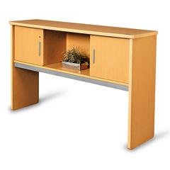 "Milano Series Executive Hutch 18"" x 64"", Maple"