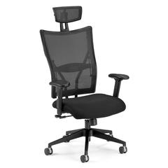 Talisto Series Executive High-Back Fabric Seat/Mesh Back Chair, Black