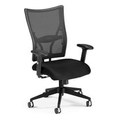 OFM Talisto Series Executive Mid-Back Fabric Seat/Mesh Back Chair, Black