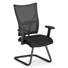 Talisto Series Executive Fabric Seat/Mesh Back Guest Chair, Black