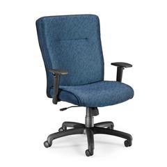 OFM Executive/Conference Chair with Adjustable Arms, Blue
