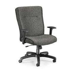 Executive/Conference Chair with Adjustable Arms, Charcoal