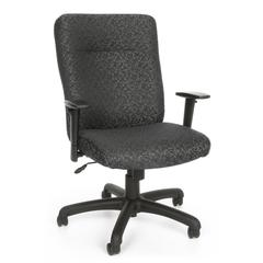 Executive/Conference Chair with Adjustable Arms, Gray