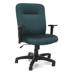 Executive/Conference Chair with Adjustable Arms, Teal