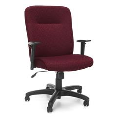 OFM Executive/Conference Chair with Adjustable Arms, Burgundy