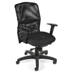 OFM AirFlo Series Mesh Task Chair, Black