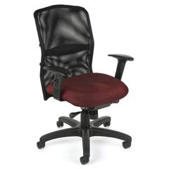 OFM AirFlo Series Mesh Task Chair, Burgundy