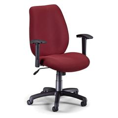 Ergonomic Manager's Chair, Wine