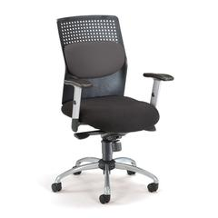 AirFlo Series Executive Task Chair with Silver Accents, Gray Mesh