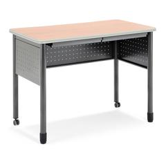 "Mesa Series Standing Height Training Table/Desk with Drawers 27.75"" x 47.25"", Maple"