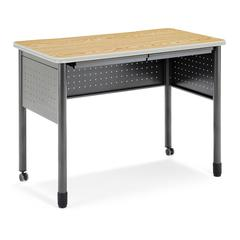 "OFM Mesa Series Standing Height Training Table/Desk with Drawers 27.75"" x 47.25"", Oak"