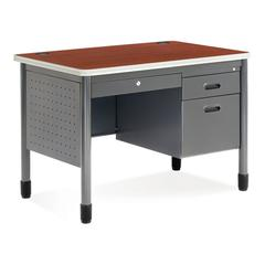 Single Pedestal Sales Desk 26.75 x 42.25, Cherry