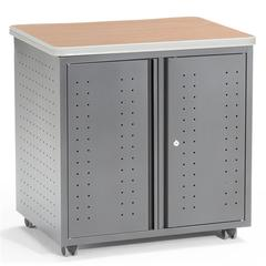 "OFM Locking Utility/Fax/Copy Table  30"" X 24"", Maple"