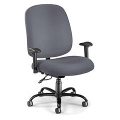 OFM Big & Tall Task Chair with Arms, Gray