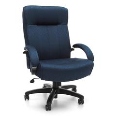 OFM Big & Tall Executive High-Back Chair, Navy