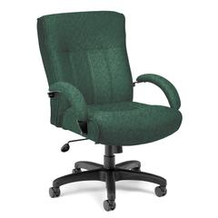 Big & Tall Executive Mid-Back Chair, Green