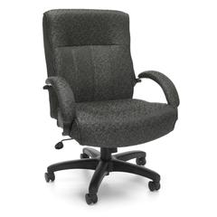 OFM Big & Tall Executive Mid-Back Chair, Gray