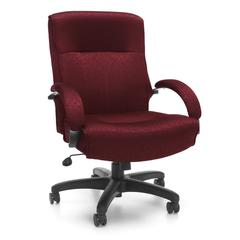 Big & Tall Executive Mid-Back Chair, Burgundy