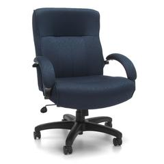 OFM Big & Tall Executive Mid-Back Chair, Navy