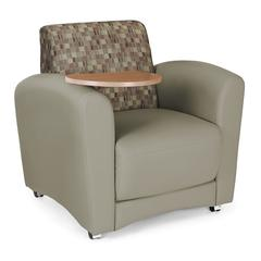 InterPlay Series Single Seat Tablet Chair, Plum, Taupe, Bronze Tablet