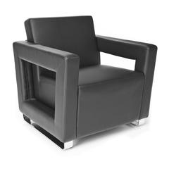 OFM Distinct Series Soft Seating Lounge Chair, Black