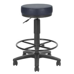 OFM Anti-Microbial/Anti-Bacterial Vinyl Utilistool with Drafting Kit, Navy