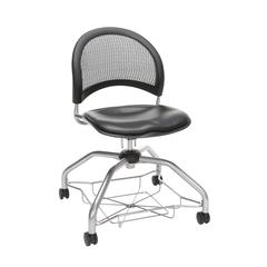 OFM Moon Foresee Series Chair with Removable Vinyl Seat Cushion - Student Chair, Charcoal (339-VAM)