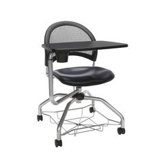 OFM Moon Foresee Series Tablet Chair with Removable Vinyl Seat Cushion - Student Desk Chair, Navy (339T-VAM)