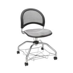 OFM Moon Foresee Series Chair with Removable Fabric Seat Cushion - Student Chair, Putty (339)