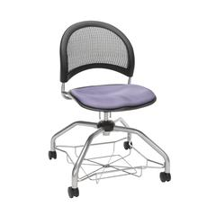 OFM Moon Foresee Series Chair with Removable Fabric Seat Cushion - Student Chair, Lavender (339)