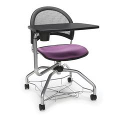 OFM Moon Foresee Series Tablet Chair with Removable Fabric Seat Cushion - Student Desk Chair, Plum (339T)
