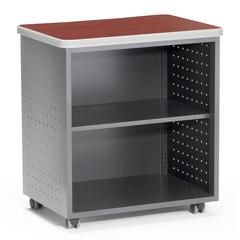 OFM Model 66745 WheeMobile Utility Station with Shelf , Laminate Top, Cherry