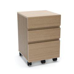 3-Drawer Wheeled Mobile Pedestal Cabinet, Harvest