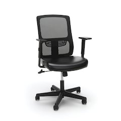 Ergonomic Mesh Chair with Leather Seat