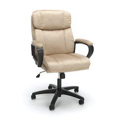 Plush Microfiber Office Chair, Tan