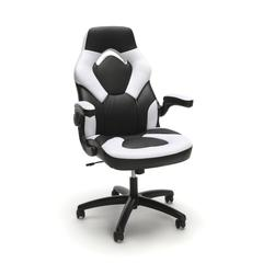 Racing Style Bonded Leather Gaming Chair, White
