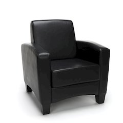 Traditional Arm Chair, Black